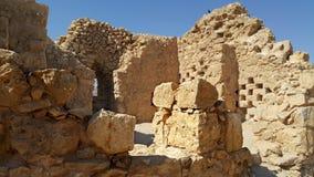 Masada fästning judean öken Royaltyfria Foton