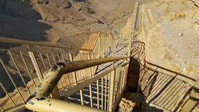 Masada fästning judean öken Royaltyfri Foto