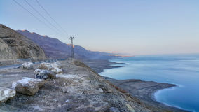 Masada fästning judean öken dött hav Arkivbilder