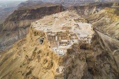 Masada-Festungsbereich südlicher Bezirk Israel Dead Sea-Bereich südlichen Bezirkes von Israel Alte jüdische Festung vom römischen stockfotografie
