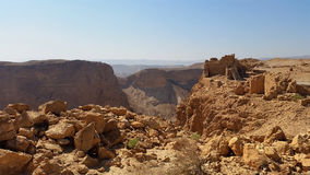 Masada forteca judean desert Zdjęcie Stock