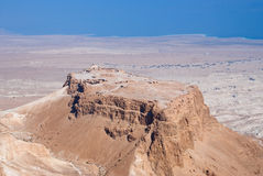 Masada fortress. Birdseye view of Masada fortress, Israel stock images