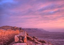 Masada fortress Royalty Free Stock Photography