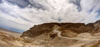 Masada fortress. And king Herod's palace in Israel judean desert travel royalty free stock images