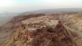 Masada fortress area Southern District of Israel Dead Sea area Southern District of Israel. Ancient Jewish fortress of. Roman Empire on top of a rock in the stock video