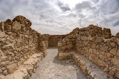 Masada fortress and king Herod Royalty Free Stock Photos