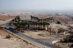 Masada fortress and king Herod's palace in Israel Stock Image