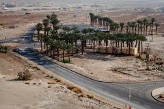 Masada fortress and king Herod's palace Stock Images