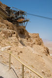 Masada fortress to the Judaean desert Royalty Free Stock Photography