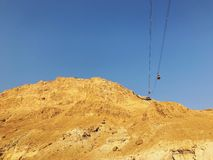 Masada funicolare, modo alla cima fotografie stock libere da diritti