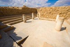 Masada i Israel Arkivfoto