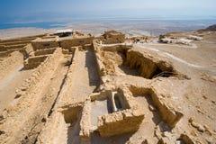 Masada in Israël Stock Afbeelding