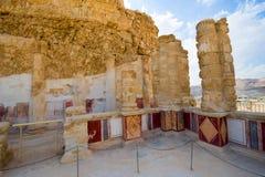 Masada in Israël Stock Foto