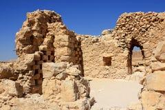 Masada, Israel. Ruins of ancient Masada fortress in Israel Royalty Free Stock Images