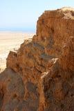 Masada, Israel. The Masada fortress and the dead sea at the background, Israel royalty free stock image