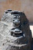 Masada, Israel. Model of the Masada fortress in Israel stock image