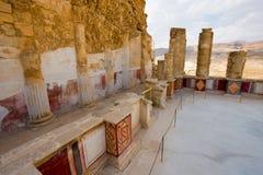 Masada in Israel Stockbild