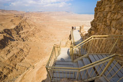 Masada in Israel Royalty Free Stock Photos