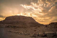 Masada, Israel. Masada, site of the final accords of the First Jewish-Roman War known as the Siege of Masada by troops of the Roman Empire on Sicarii Jewish Stock Image