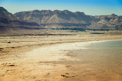 Masada in Israel. View of Dead Sea coastline Stock Photo