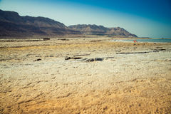 Masada in Israel. View from the Dead Sea to the mountains Stock Photo