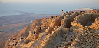 Masada Israele Immagine Stock