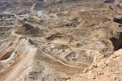 Masada Judean öken, Israel Arkivfoto