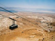 Masada kabelbil fotografering för bildbyråer