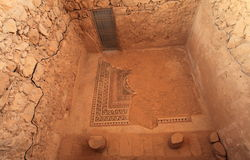 Masada - Mosaic Floor into Western Palace Royalty Free Stock Photo