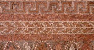 MASADA-MOSAIK i slotten för Herod ` s, Massad, Israel Arkivbild
