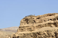 Masada mountain summit, Israel. Stock Photos