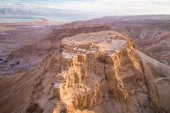 Masada National Park in the Dead Sea region of Israel. Masada. The ancient fortification in the Southern District of Israel. Masada National Park in the Dead Sea royalty free stock image