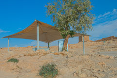 Masada. Ruins of Masada fortress, Israel Stock Image