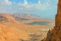 Masada. Ruins of Masada fortress, Israel Royalty Free Stock Photo