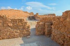 Masada. Ruins of Masada fortress, Israel Royalty Free Stock Image