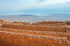 Masada. Ruins of Masada fortress, Israel Royalty Free Stock Images