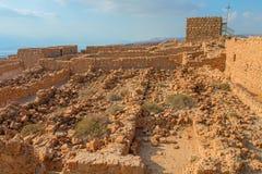 Masada. Ruins of Masada fortress, Israel Stock Photo