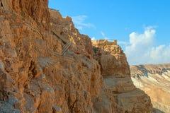 Masada. Ruins of Masada fortress, Israel Royalty Free Stock Photography