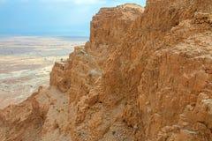 Masada. Ruins of Masada fortress, Israel Royalty Free Stock Photos