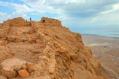 Masada. Ruins of Masada fortress, Israel Stock Photography