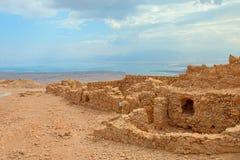 Masada. Ruins of Masada fortress, Israel Stock Photos