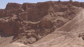 Masada stronghold - Israel stock video
