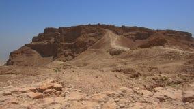 Masada stronghold in the Judaean Desert, Israel stock footage