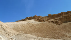 Masada stronghold site. Stock Image