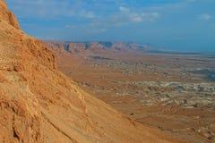 Masada. View from Masada fortress, Israel Stock Images
