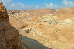 Masada. View from Masada fortress, Israel Stock Photos