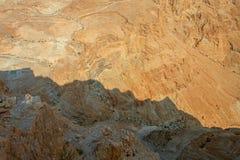 Masada. View from Masada fortress, Israel Royalty Free Stock Photos