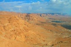 Masada. View from Masada fortress, Israel Royalty Free Stock Images