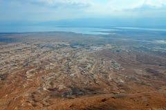 Masada. View from Masada fortress, Israel Royalty Free Stock Photo