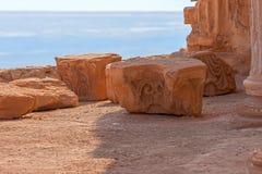 Masada. View from Masada fortress, Israel Stock Image